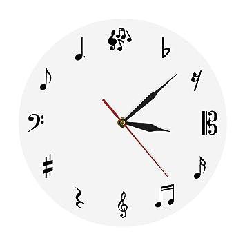 hysxm Estudio De Música Reloj De Pared Reloj De Pared Notas De Música Reloj De Pared ...