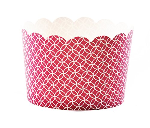 Simply Baked Jumbo Paper Baking Cup, Scarlet Medallion, 220-Pack, Disposable and Oven-safe