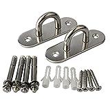 Alise Suspension Ceiling Hooks Hammock Swing Hook 4-Inch Length Stainless Steel,1 Pair