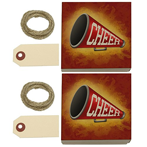 Cheerleading Megaphone Kraft Gift Boxes Set of 2 Megaphone Bag Tag