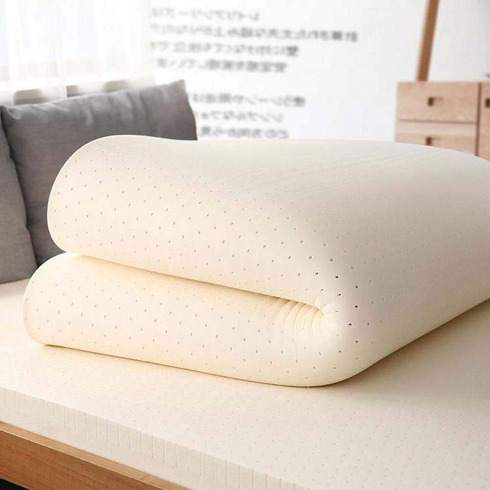 18cm 80x190cm(31x75inch) Latex Mattress Pad King Hypoallergenic, Bedroom Sofa Tatami Hotel- Thai Latex Mattress for Household Sleep Supportive & Pressure Relief,2cm,120x190cm(47x75inch)