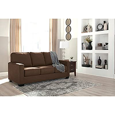 Ashley Furniture Signature Design -Zeb Sleeper Sofa - Contemporary Style Couch - Twin Size - Charcoal