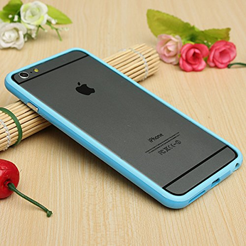 Best Style Iphone 6 Plus Silicon Bumper Transparent Baby Blue by G4GADGET®