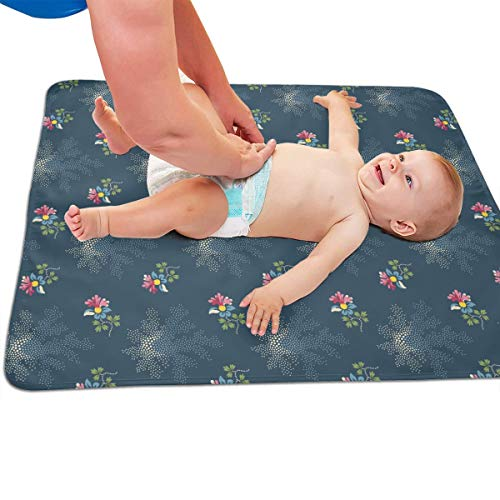 V5DGFJH.B Baby Portable Diaper Changing Pad Small Flower Urinary Pad Baby Changing Mat 31.5