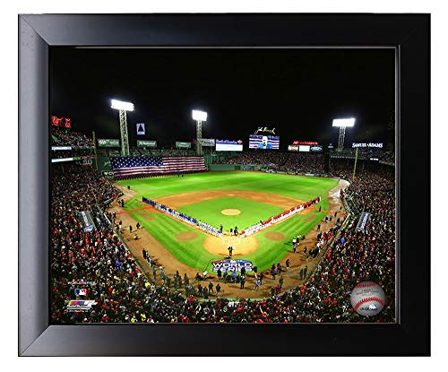 Framed Fenway Park At The Start Of Game 1 of the 2018 World Series, The Boston Red Sox 2018 World Series Champions. 8x10 Photo Picture