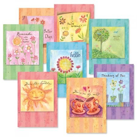 - in This Together Friendship Greeting Cards Value Pack - Set of 16 (8 Designs) Large 5 x 7 Cards, Sentiments Inside, Thinking of You Cards, Envelopes Included