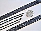 Braided Expandable Sleeve Hose Loom Automotive 1/2'' .5 Inch Car Truck 20 FOOT FEET ROLL Kit
