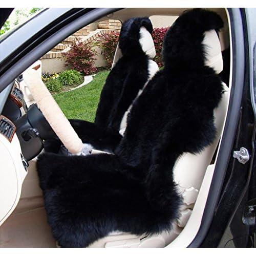 Okayda 1 Piece Australia Sheepskin Car Seat Covers Real Fur Interior Accessories Cushion Newest Winter