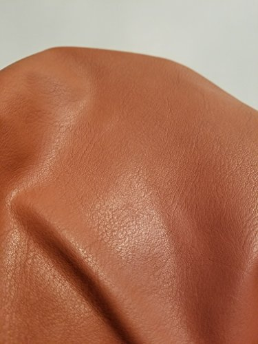 Cognac British Tan Faux Leather Synthetic Pleather 0.9 mm Cacti 1 Yard 52 inch Wide x 36 inch Long Soft Smooth Vinyl Upholstery (Cognac)