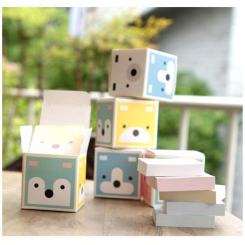 6 pcs Cute Animal Pattern Mini Paper Notepad Memo Pad Note Notepaper in (Wedding Lilly Flowers Favor)