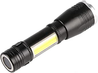 Rechargeable Telescopic dimming Flashlight Outdoor Waterproof with Magnetic COB Work lamp Lighting