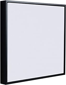 Floater Frame for Stretched Canvas and Canvas Panels 1-3//8 inch Thick for 3//4 inch Deep Canvas Black, 8 x 8 in Square Floater Frames for Canvas Paintings 8x8