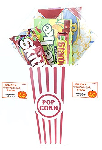 Spooktacular Movie Night Gift Basket ~ With Popcorn, Candy and 2 Free Redbox Movie Rentals (Mike and Ikes)