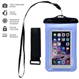 Waterproof Case,ebow Armband Sweatproof Case for Apple Iphone 6s/6/5/4,samsung and Other Smartphone,protective Life Pouch Cover with Touch Responsive Clear Screen Protector (Four)