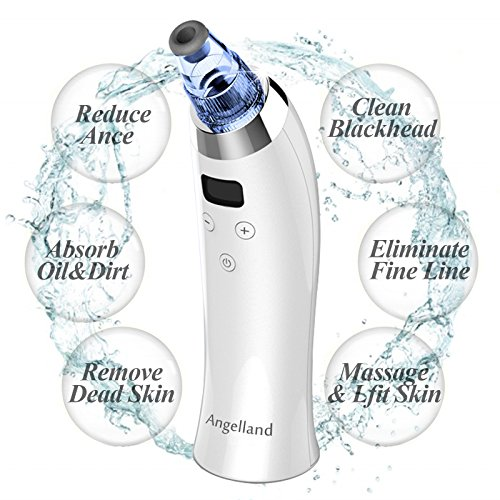 Blackhead Remover Pore Vacuum Suction Facial Acne Cleaner Electronic Pimple Extractor Tool USB Rechargeable Comedo Microdermabrasion Machine with 4 Multi-Functional Probes