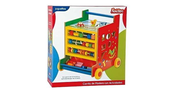 Nenittos Carrito de Madera con Actividades: Amazon.es: Juguetes y juegos