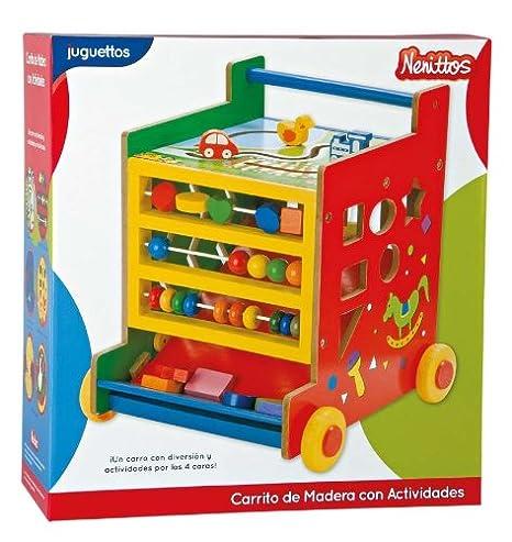 Nenittos Carrito de Madera con Actividades: Amazon.es: Juguetes y ...