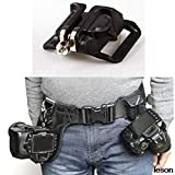 Lannmart Camera Quick Strap with Neck Strap Screw Mount Waist Spider Holster Shoot Belt Buckle Button Fast Exempt Postage