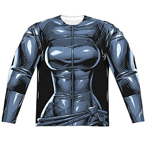 Shirt Catwoman Costume T (Costume -- Catwoman -- DC Comics All-Over Long-Sleeve T-Shirt,)