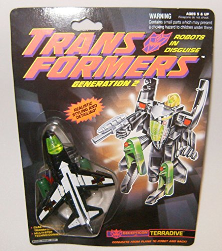 Transformers Generation 2 Terradive Black And White Action Figure