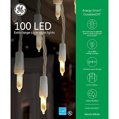 GE Energy Smart Icicle Style Lights