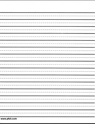 Raised Lines Writing Paper- Wide lines with Dashes in Portrait - Unusual ()