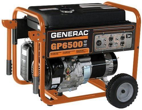 Generac 5976 GP6500 6500 Running Watts 8000 Starting Watts Gas Powered Portable Generator – CSA Compliant