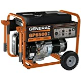 Generac 5623 GP6500 8,000 Watt 389cc OHV Portable Gas Powered Generator (Discontinued by Manufacturer)