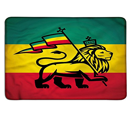Rasta gaming mouse pad Judah Lion with a Rastafari Flag King Jungle Reggae Theme Art Printcustomizable mouse pad Black Green Yellow and Red