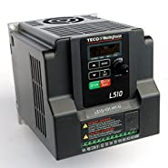 Teco Variable Frequency Drive, 1 HP, 115 Volts 1 Phase Input, 230 Volts 3 Phase Output, L510-101-H1, VFD Inverter for AC motor control