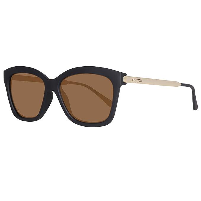BENETTON BE988S01, Gafas de sol para Mujer, Black/Gold 56 ...