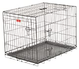 Dog Training Crate – Lucky Dog 2 Door Kennel – Includes Rust Resistant Wire, Top Handle for Mobility, Leak-Proof Removable Pan for Easy Cleaning. Perfect for Home, Travel & Pet Training (36-inch)