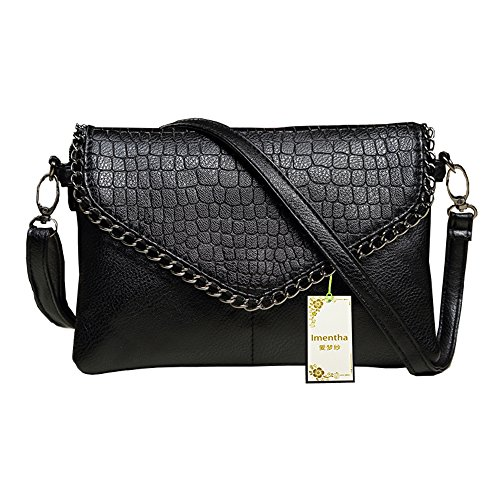 Handbags Ladies China (Large fashion Clutch Handbags black woman bag bolsas feminina big clutch bag cute envelope ladies women shoulder bags purse handbag women evening leather purse (Large, black))