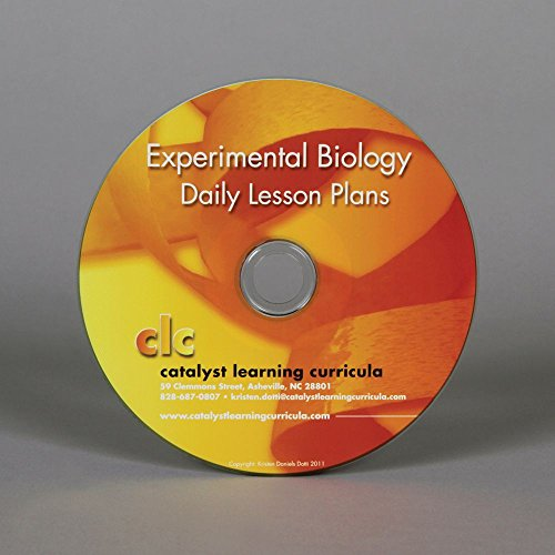 Experimental Biology Lesson Plans CD-ROM by Carolina Biological Supply Company