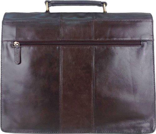 UNICORN Echt Leder Braun Tasche Unternehmen/Business Exekutive Aktentasche Schlüssel sperren Messenger bag #3N