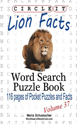 Circle It, Lion Facts, Word Search, Puzzle Book