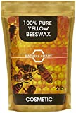NATURAL APIARY 100% PURE BEESWAX PELLETS - 2LB COSMETIC Pastilles, DIY Projects, Moisturizer, Lotions, Creams, Lip Balms, Soaps