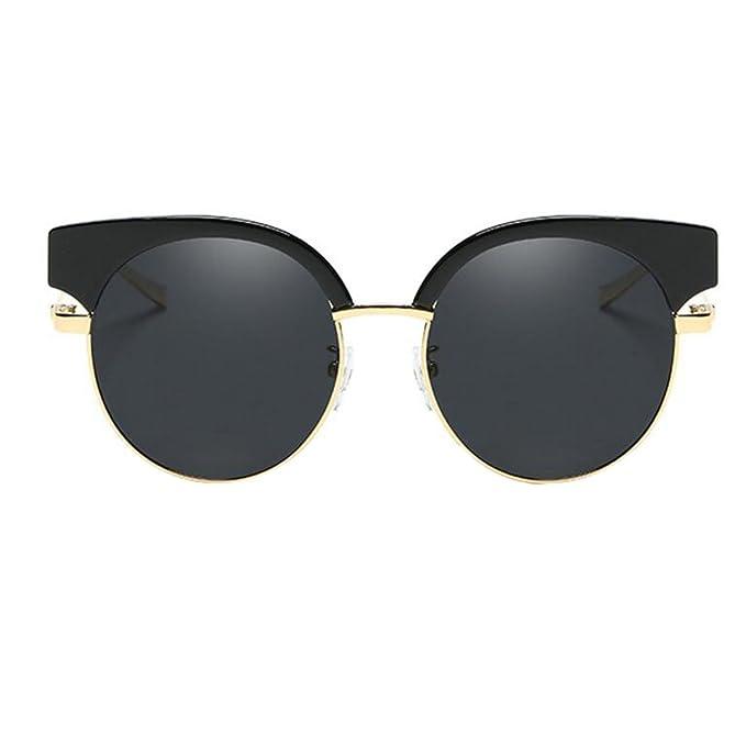 HSNZZPP Gafas De Sol Polarizadas Hombres Y Mujeres Gafas De Sol Retro Gafas De Metal, A-OneSize: Amazon.es: Ropa y accesorios