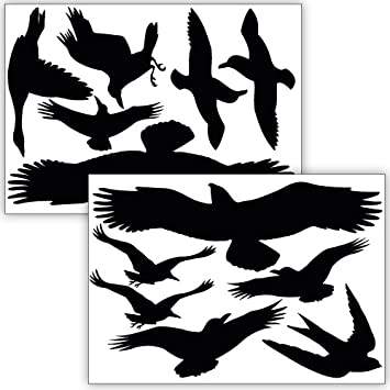 Amazoncom Wandkings Bird And Window Protection Stickers - Window decals for bird protection