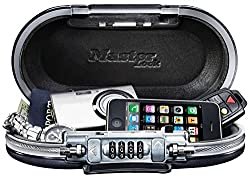 Master Lock Personal Safe, Set Your Own Combination Portable Safespace, 9-1732 In. Wide, Gunmetal Grey, 5900d