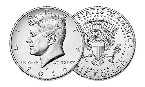 2016 P & D Kennedy Half Dollar Clad Uncirculated Clad Half Dollars