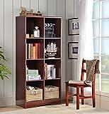 American Furniture Classics 117 Large 8 Cube Storage Organizing Bookcase, Classic Cherry