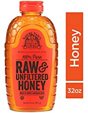 Nature Nate's 100% Pure, Raw & Unfiltered Honey;  Squeeze Bottle; Award-Winning Taste