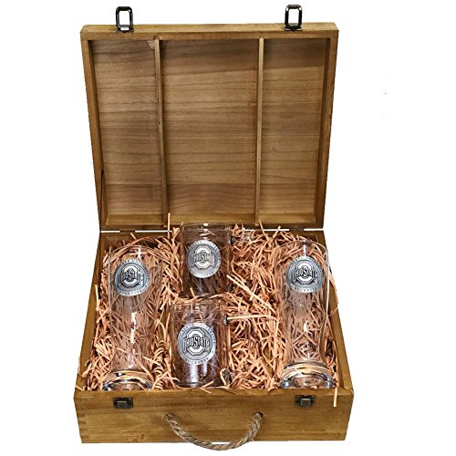 Ohio State Buckeyes Boxed Beer Set by Heritage Metalwork