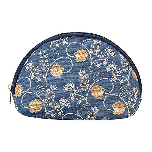 - Signare Tapestry Cosmetic Makeup Toiletry Bag Case in Jane Austen Design (Jane Austen Blue) (COSM-AUST)