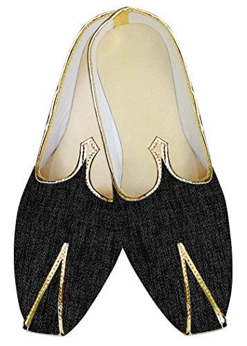 INMONARCH Gris Oscuro Hombres Boda Zapatos Étnicas MJ013126
