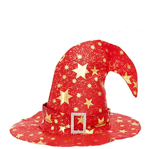 Moktasp 2019 New Veil Witch Hat Wizard Hats Caps Halloween Party Hats Masquerade Props -