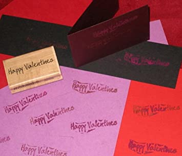 Happy Valentines Stamp For Valentine S Day Wood Mounted Rubber For