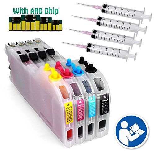 INKUTEN LC203 LC205 LC207 Extra-Large Refillable Ink Cartridges with Auto Reset Chips for Brother MFC-4320DW MFC-J4420DW MFC-J4620DW MFC-J485DW MFC-J5520DW MFC-J5620W MFC-J5720DW Printer ()
