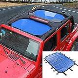 RT-TCZ Sunshade Top Cover Provides UV Sun Protection for Jeep Wrangler JK JKU 2007-2017 (Blue 4 Doors)